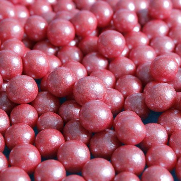 Vegansk kakestrø perler rød