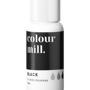 Colour Mill oljebasert matfarge svart
