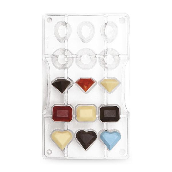 Decora Polykarbonat Sjokoladeform - Diamanter