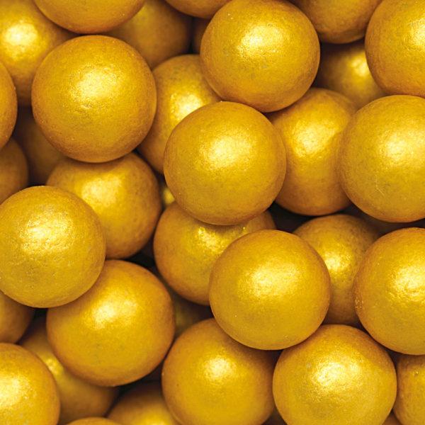 Decora sukkerperler i gull