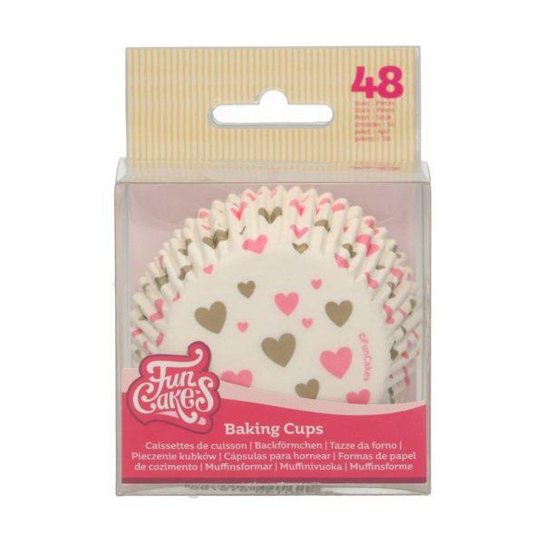 FunCakes Muffinsformer rosa hjerter