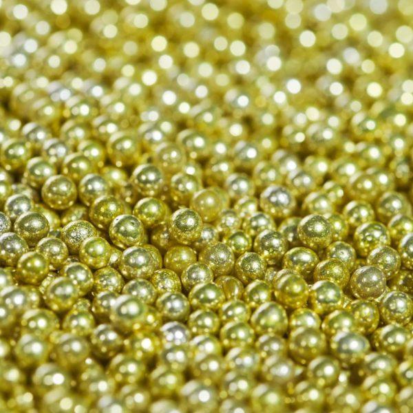 Happy Sprinkles Sukkerperler Metallic Gull