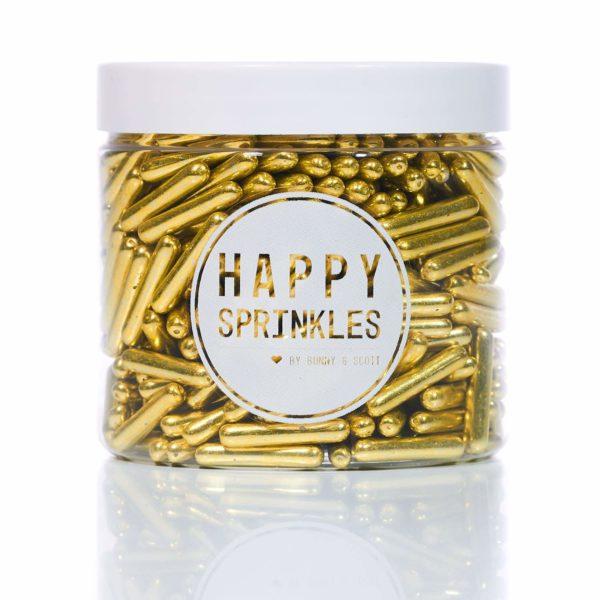 Happy Sprinkles sukkerstenger Gull