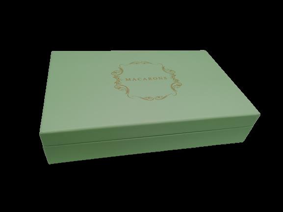 Makroneske firkantet limegrønn