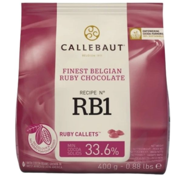 Callebaut sjokolade -Ruby- 2,5kg