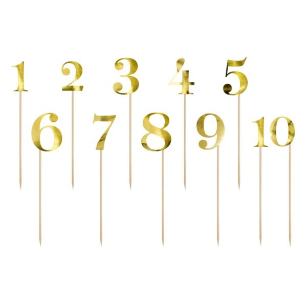 Kaketopp tall i gull