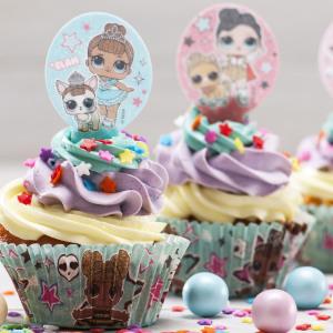 Spiselige Cupcakedekorasjoner L.O.L