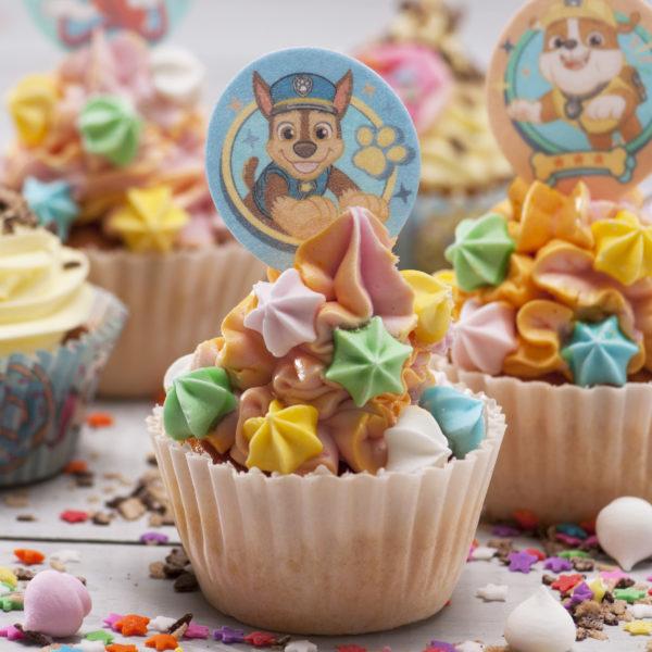 Spiselige Cupcakedekorasjoner Paw Patrol
