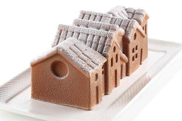 Silikomart Kakeform Vinterlandsby